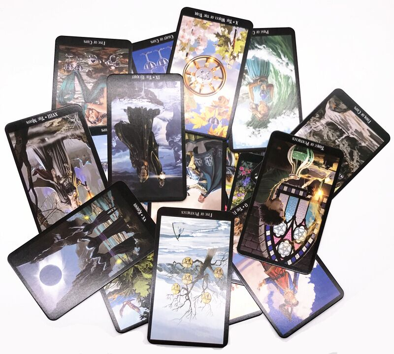 2018 sorcerer full English Mystic Tarot deck shadowscapes tarot cards game read your fate fortune future