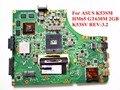 Para asus k53sm k53sv madre del ordenador portátil rev: 3.2 hm65 gt630m 2 gb ddr3 100% probado nave rápida