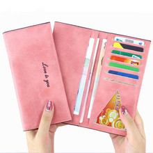 Womens fashion Purses Young lady big capacity Long Wallets females PU Leather clutch bags Cards Holder wallet women bag 12colors