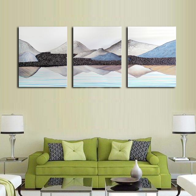Natural Scenery Mountain Decorative Wall Artwork No Frame Vintage Canvas Oil Painting Poster For Living Room Bedroom Decoration
