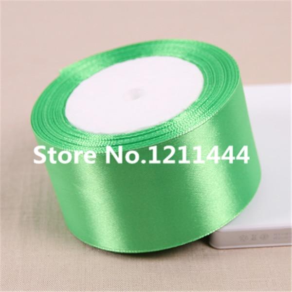 2 дюйма светло-зеленый 25 ярдов/рулон 50 мм Атлас Ленты для Наряды на свадебную вечеринку Аксессуары оптовая продажа подарочной упаковки ленты