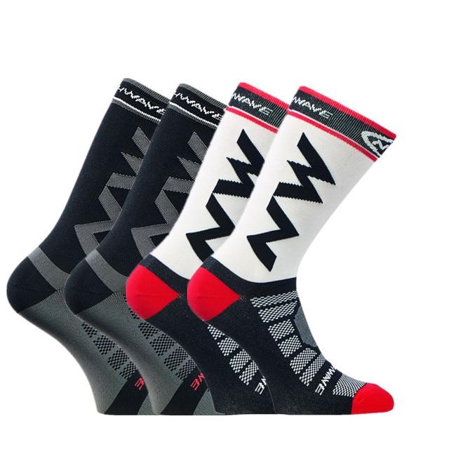 4 par/set esporte ao ar livre ciclismo meias homens correndo meias respirável bicicletas confortáveis meias de compressão 2