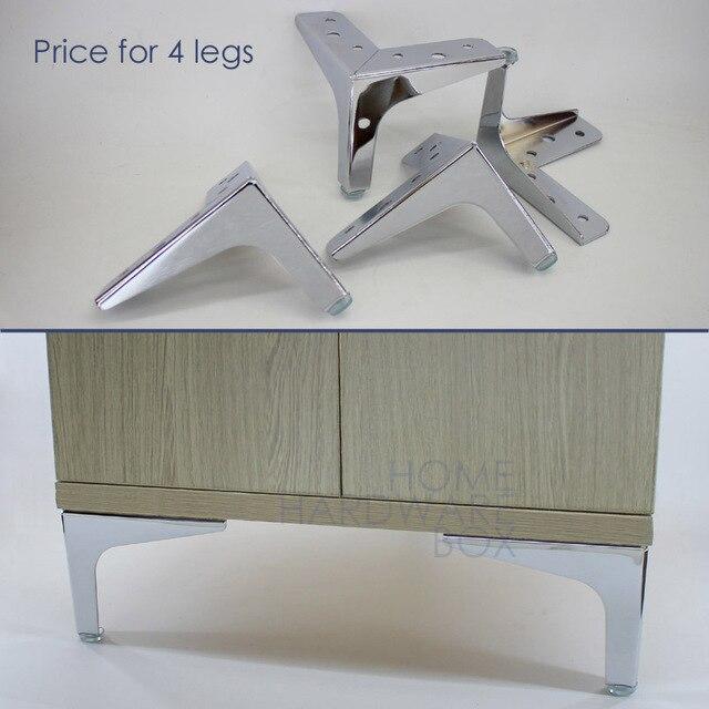11cm Height Table Leg Chrome Cabinet Feet Furniture Sofa Legs Steel