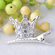 2019 children's coronas hair clips shiny rhinestone crystal crown hairpin girls head patch princess barrettes hair accessories(China)