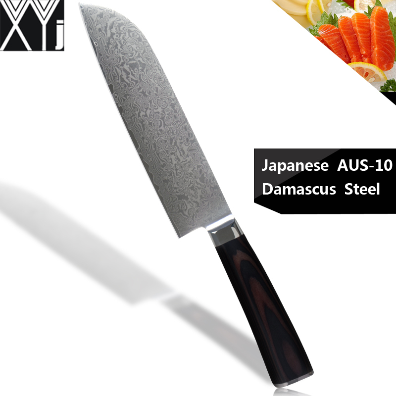 xyj aus10 damascus cooking knives 7 inch japanese cooku0027s knife 67 layers steel japanese - Japanese Knife