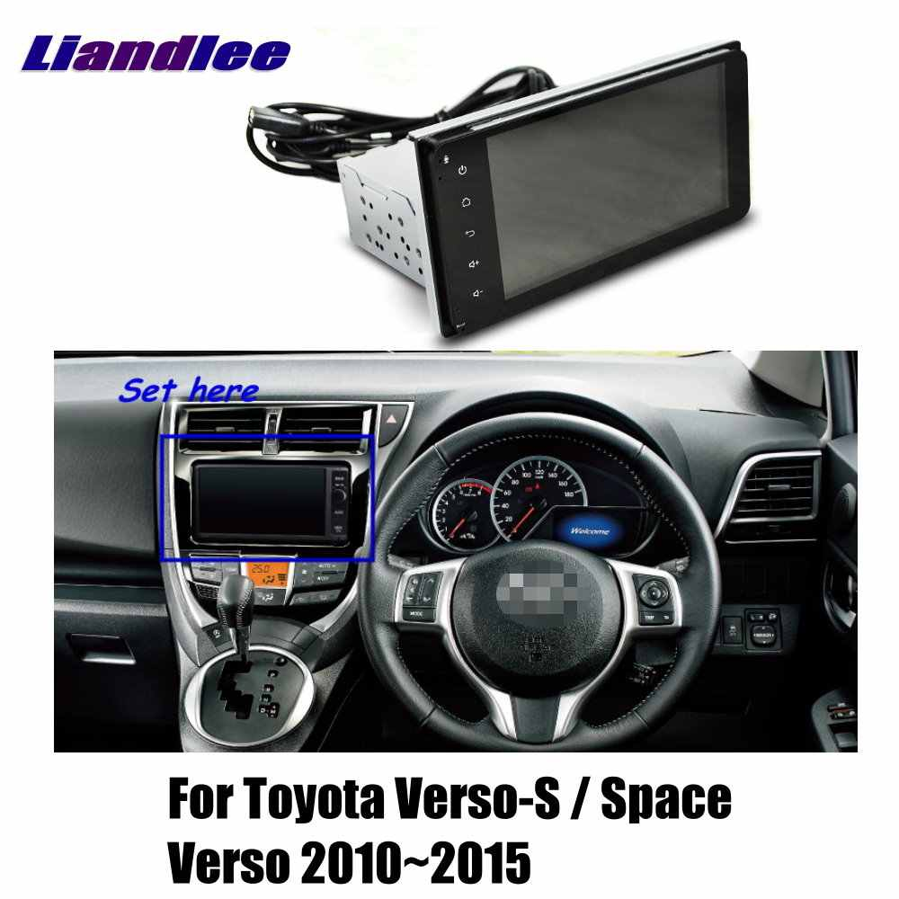 hight resolution of liandlee for toyota verso s space verso 2010 2015 car android radio player