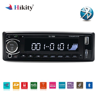 Hikity 12V 1din Autoradio Bluetooth Car Stereo Radio MP3 Player Support BT/FM/USB/SD Remote Control Hands free Call Time Display