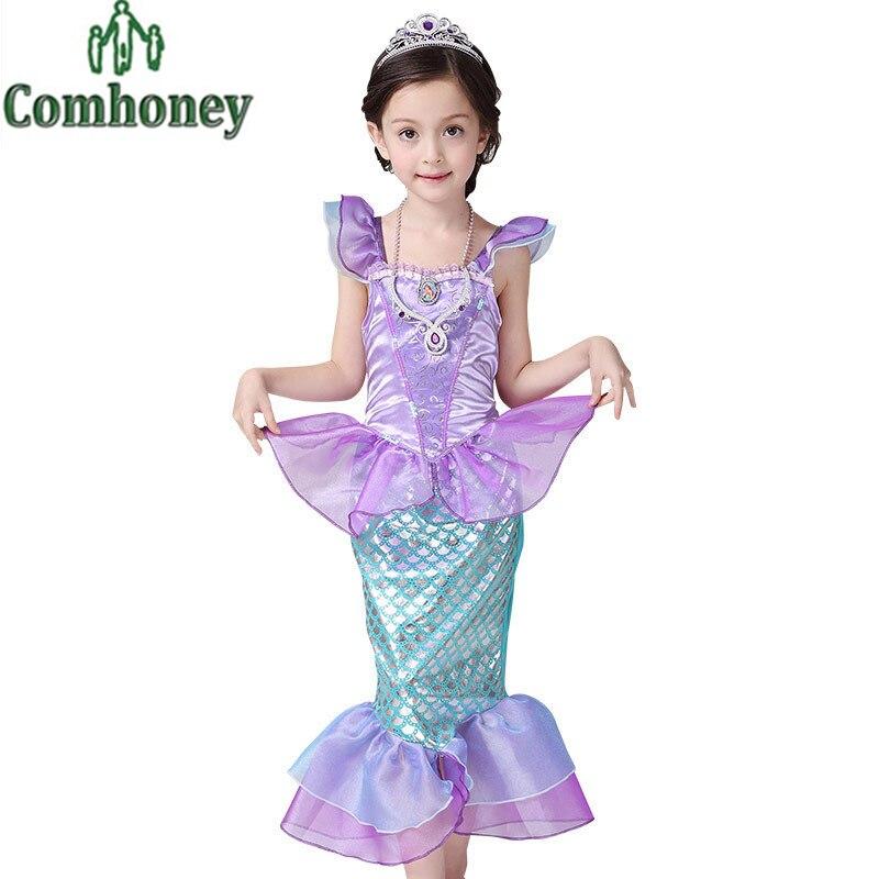 Платье детское с русалкой