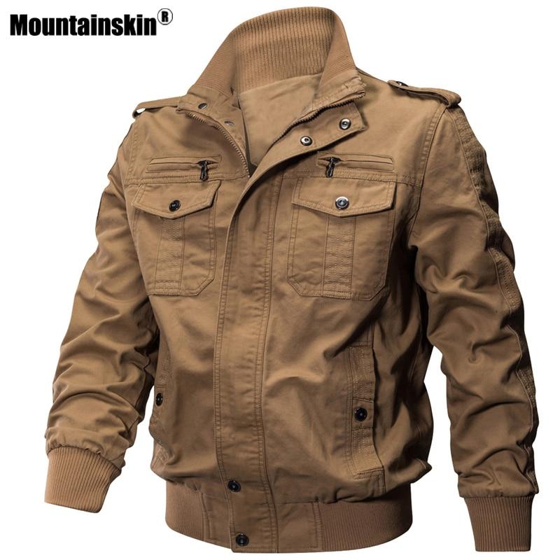 Mountainskin Lente Herfst mannen Jassen Militaire Jassen Katoen Leger Bovenkleding Toevallige Mannelijke Solid Jacket Heren Merk Kleding SA671-in Jassen van Mannenkleding op AliExpress - 11.11_Dubbel 11Vrijgezellendag 1