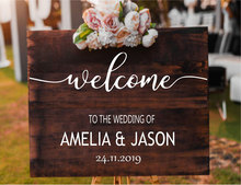Personalised Bride And Groom Name Sticker Welcome To Our Wedding Quote Decal Vinyl Sign Mirror Art Decor Gift WE14