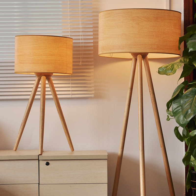 tripod wood floor lamp european style for bedroom ems free mainland