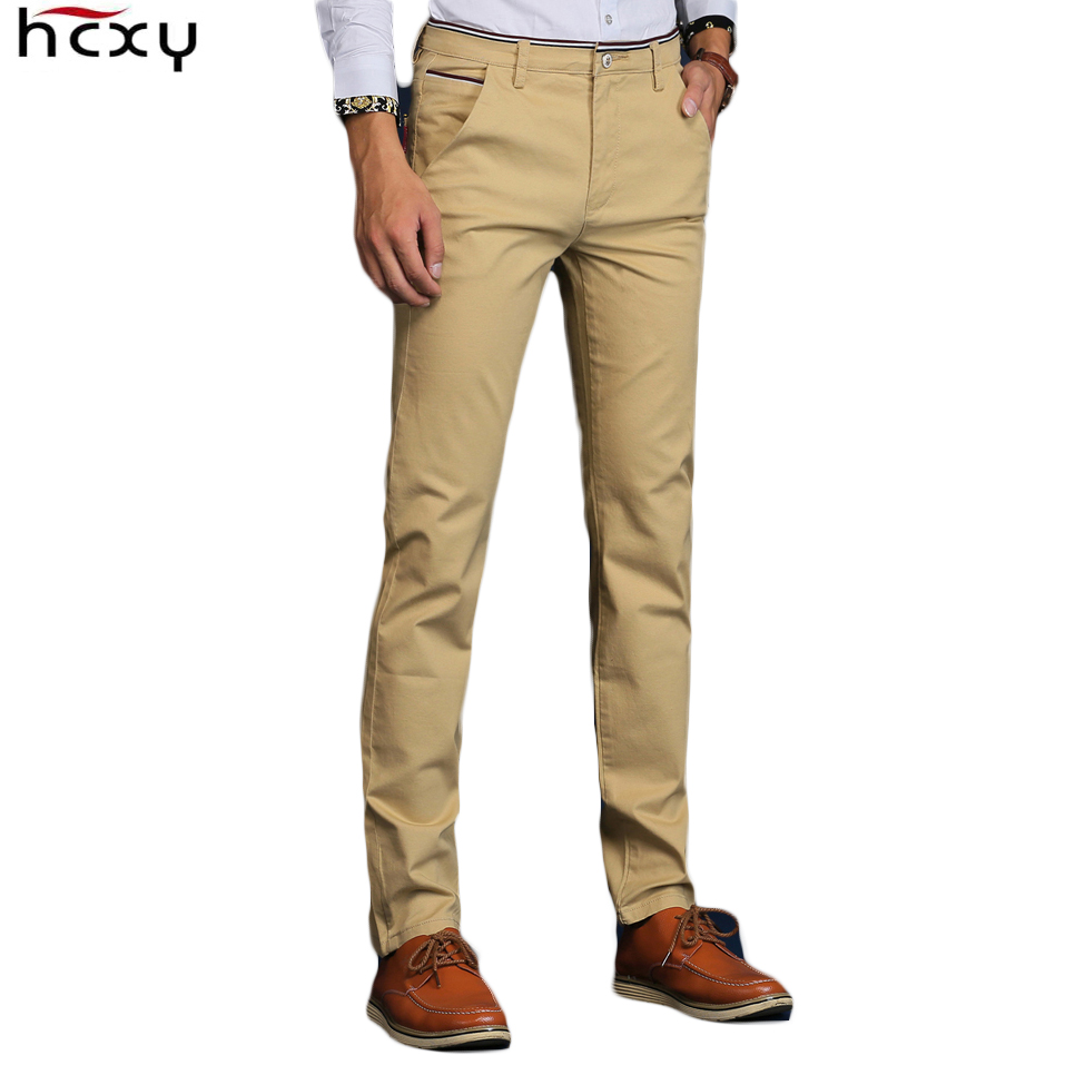 cd8dccfe US $17.71 52% OFF|HCXY 2019 New fashion Mens Casual Pants for Men Trousers  Male high quality Work Pants Male Cotton Formal size 36 38-in Casual Pants  ...