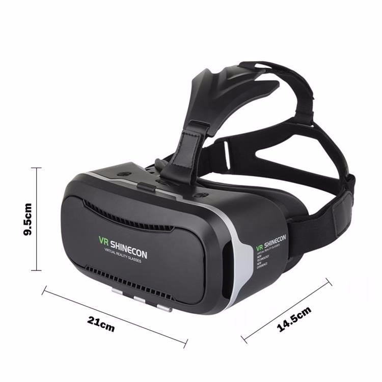 Shinecon 2.0 VR Pro Version Virtual Reality 3D Glasses Headset Google Cardboard BOX 3.0 Movie Game For 4.7-6 inch Phone + Remote 15