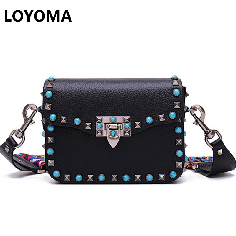 Fashion Mini PU Leather Women Crossbody Bags Rivet Vintage Shoulder Bag Designer Famous Brand Handbag Ladies Messenger Bags 2017 4sets herringbone women leather messenger composite bags ladies designer handbag famous brands fashion bag for women bolsos cp03