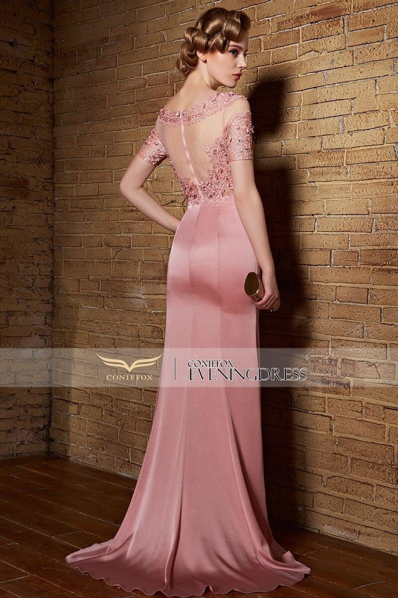 Coniefox 82123 largo Vestidos de noche color rosa formal vestidos de ...