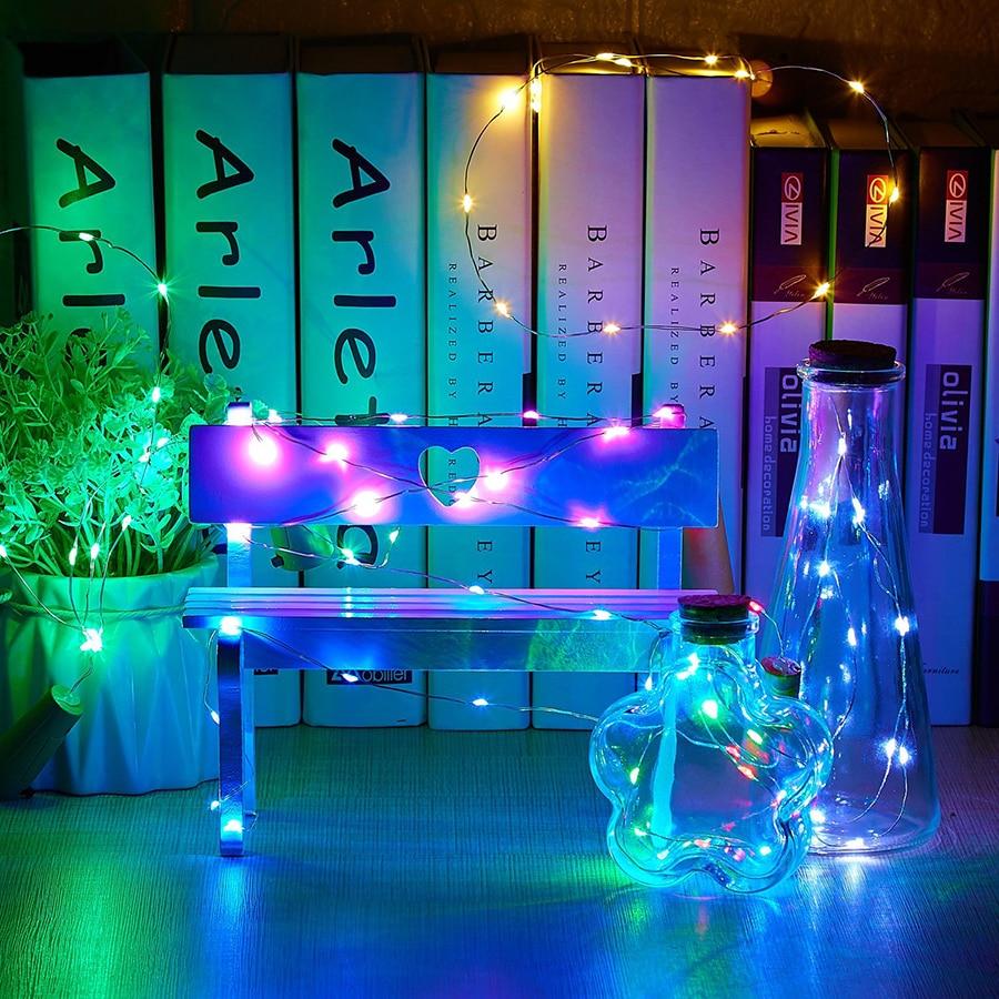 10 sztuk / partia Butelka Cork LED String Lights Dekoracje LED - Oświetlenie wakacje - Zdjęcie 4