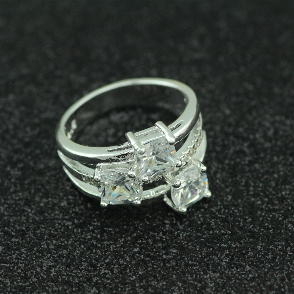 925 sterling silver ring south korea set zircon ring