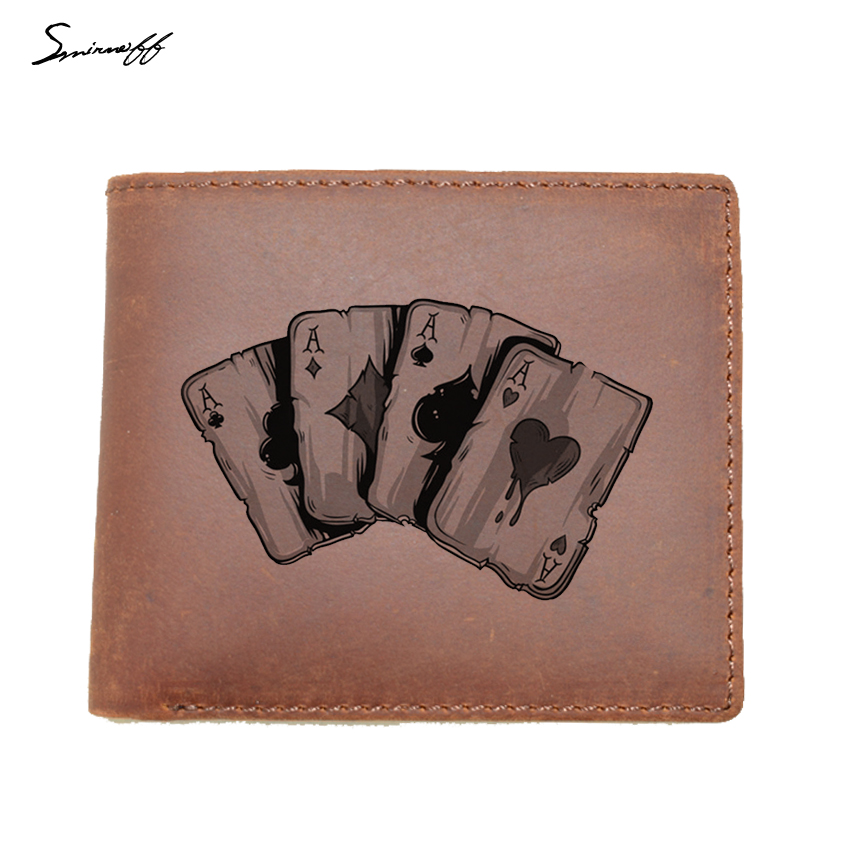 Wallet Men Wallets Genuine Leather Purse Trolley Men Purse Card Holder Two Fold Short Purse Coin Pocket Walet