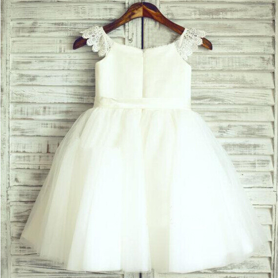2017 New Arrival Flower Girl Dresses Party Communion Pageant Dress Little Girls Kids/Children Sweet Princess Dress for Wedding