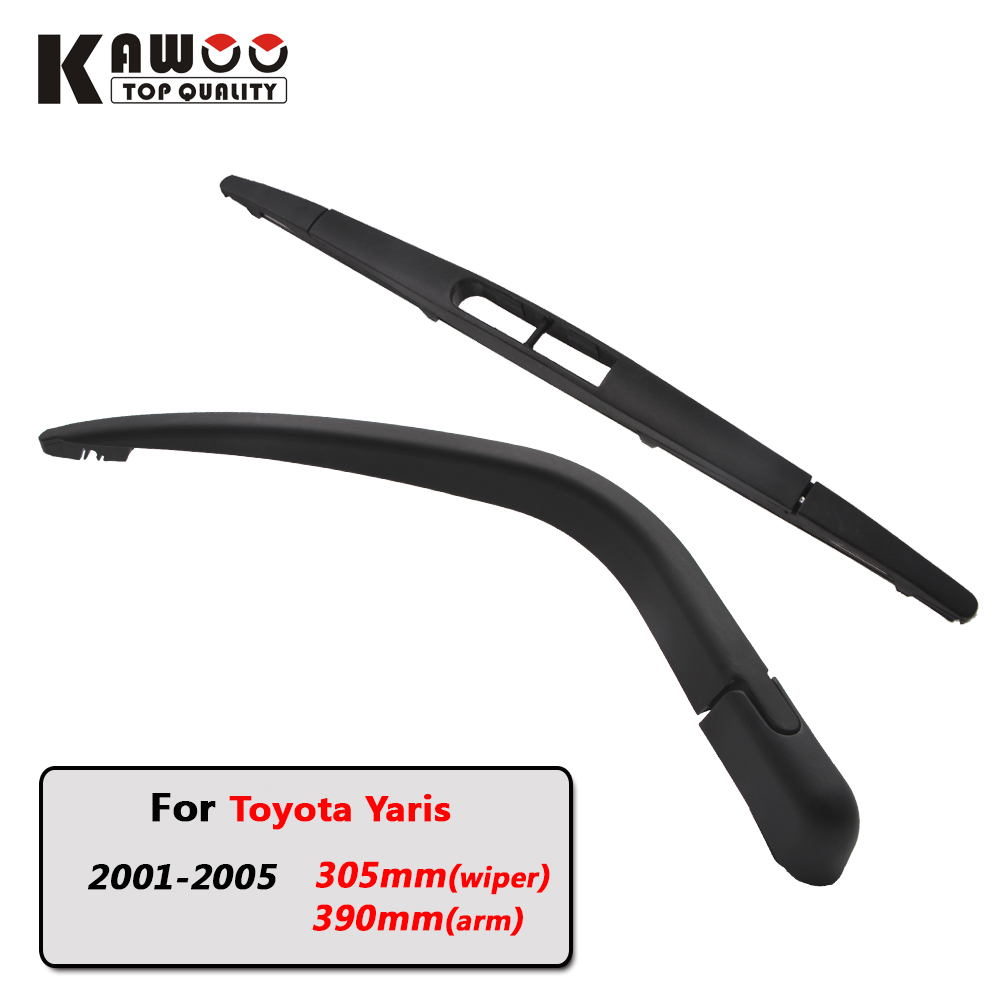 Kawoo car rear wiper blade blades back window wipers arm for toyota yaris hatchback 2001