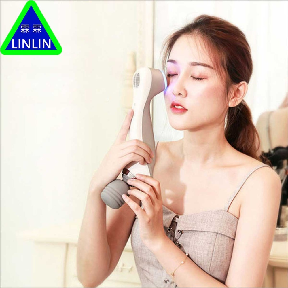 LINLIN Cold and hot beauty instrument Household essence importing instrument Negative ion vibrator Facial massage Cleanser
