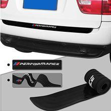 Автомобильный задний бампер отделкой задняя защитная накладка протектор для bmw e39 e46 e90 f30 f10 f01 f20 f32 f33 e46 e60 производительности резиновый Стикеры