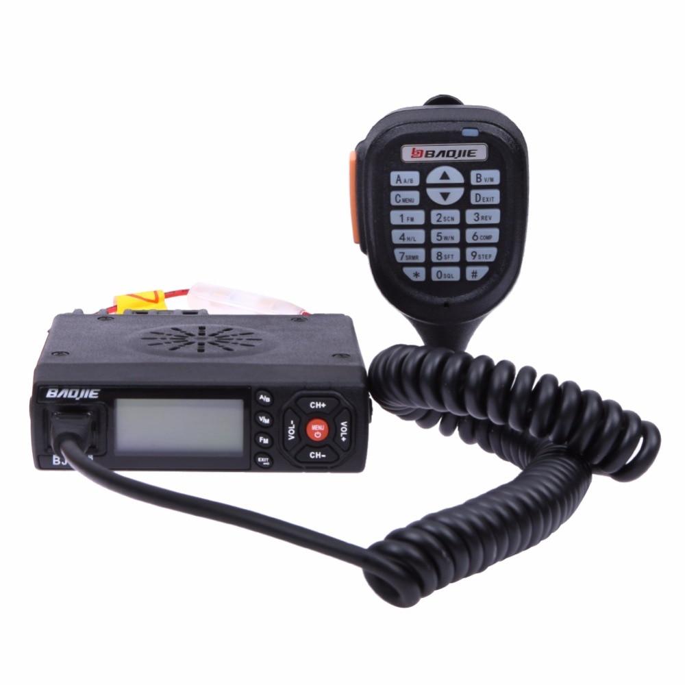 Baojie BJ-218 Dual-Band Mobile Radio 25W 256CH Scan CTCSS 2-Way Radio Walkie Talkie Trunk High Quality Mobile Radio Interphone