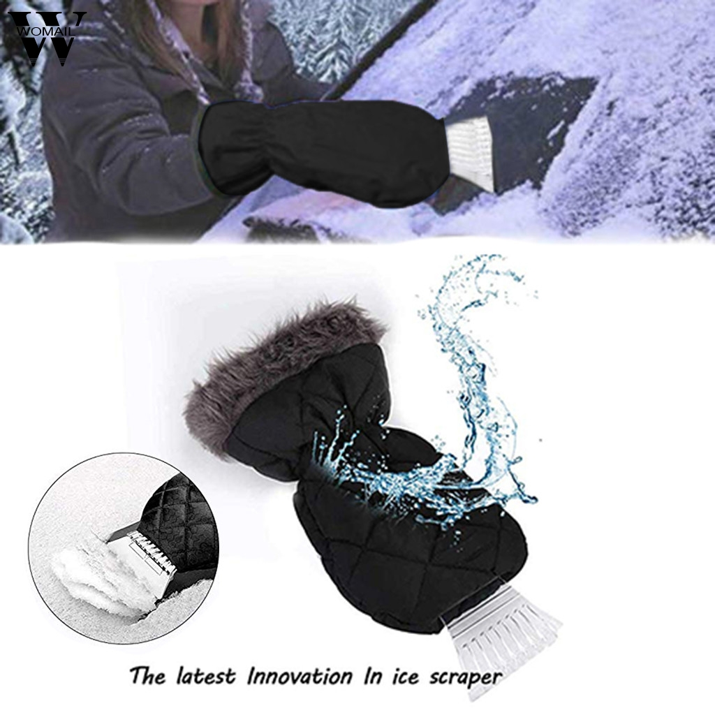 Steady Touch Screen Windproof Outdoor Sport Waterproof Snow Ice Scrapers Gloves Lined Thick Fleece Durable Ice Scrapers Windstopper Excellent Quality In