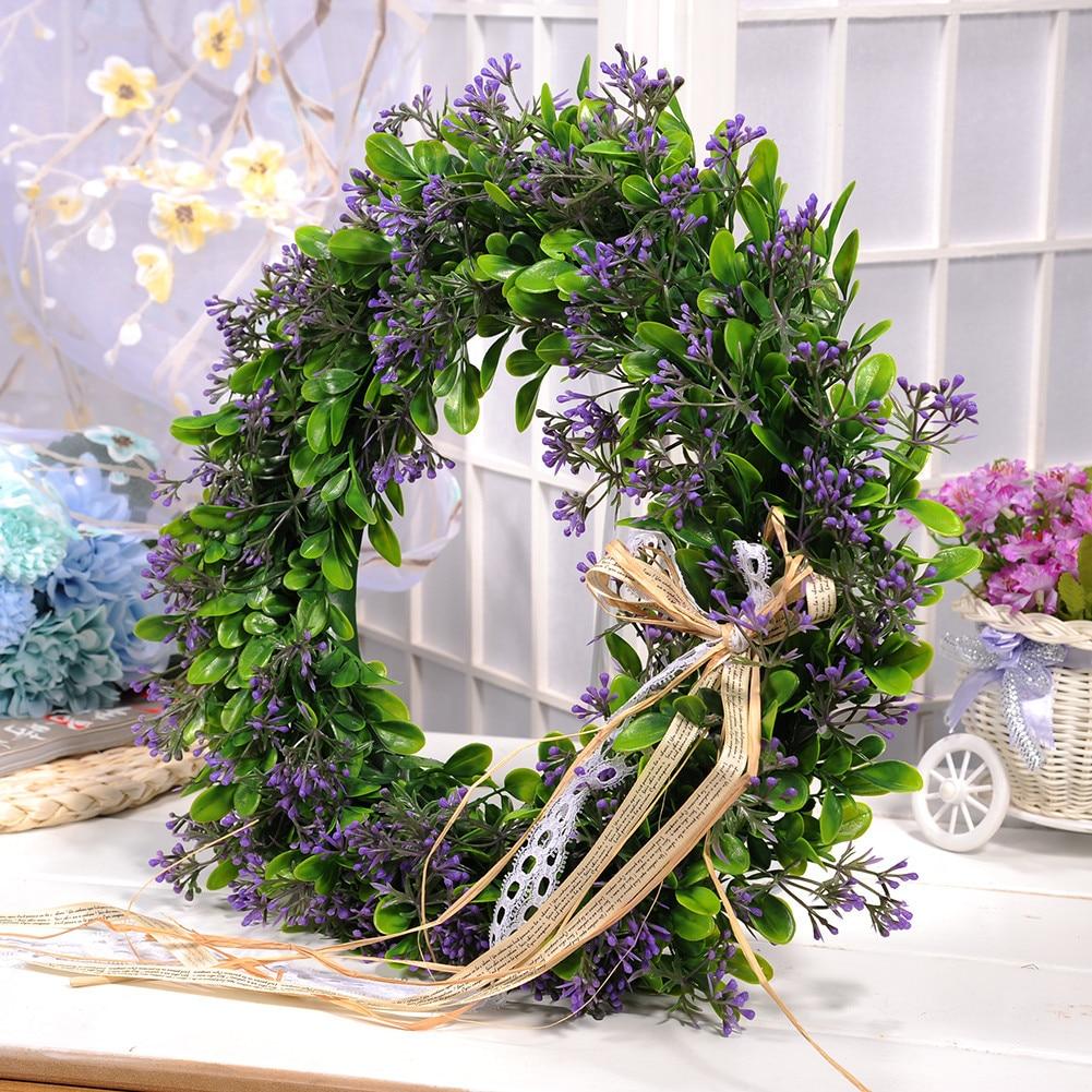 artificial plant flowers wreaths garland wedding door wreath diy wall car decoration fake decorative plants flower - Decorative Wreaths