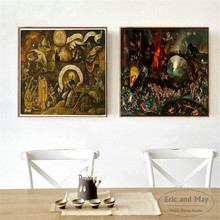 Hieronymus Bosch Surreal Artwork Canvas Art Print Painting Modern Wall Picture Home Decor Bedroom Decorative Posters No Frame
