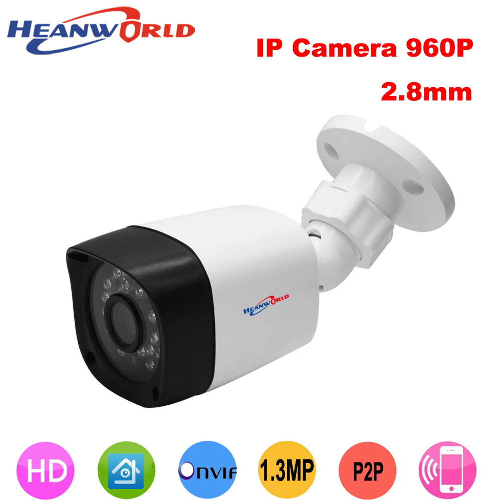Heanworld hd ip camera 1.3 mp outdoor security camera 960p wide lens 2.8mm CCTV Surveillance ONVIF P2P Motion Detection RTSP 720p hd 3 7mm lens mini cctv surveillance cmos ip camera onvif p2p webcam motion detection