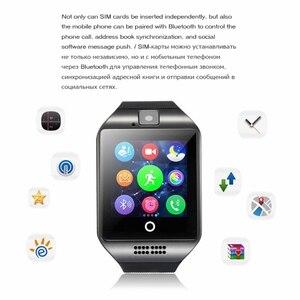 Image 3 - Bluetooth orologi Q18 Astuto Della Vigilanza di Sostegno Sim TF Card ip67 Passometer Della Macchina Fotografica per Android IOS Smart Phone orologi delle donne degli uomini