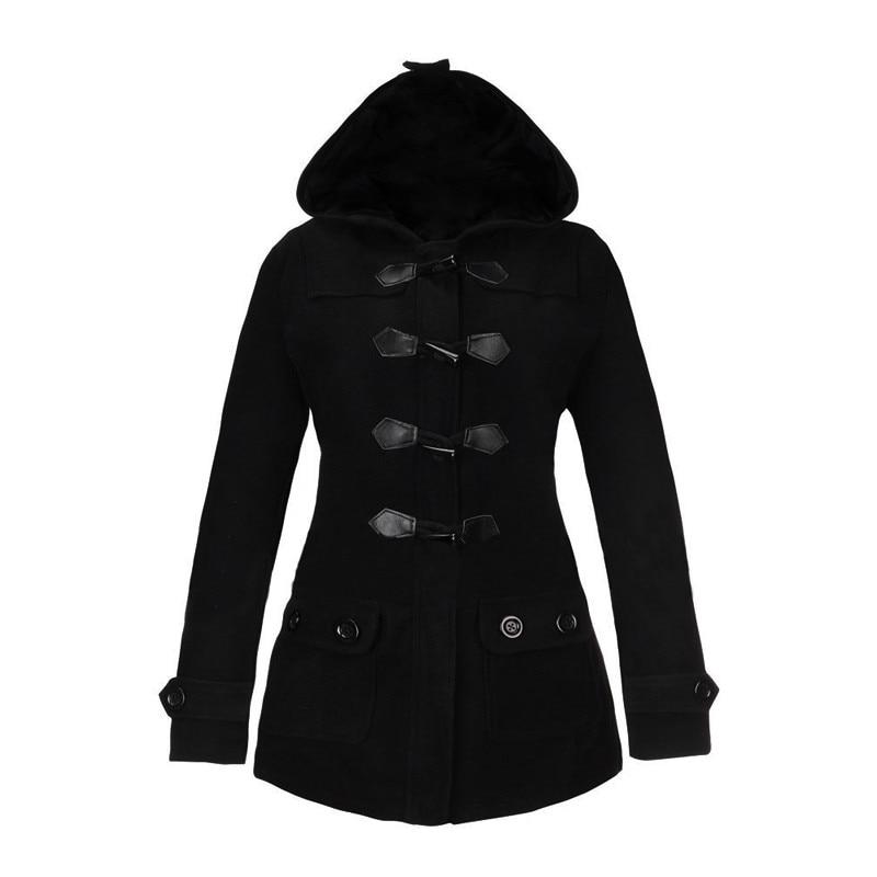 Online Shop 2016 New Autumn Winter Women Thick Wool Coat Hoodie ...