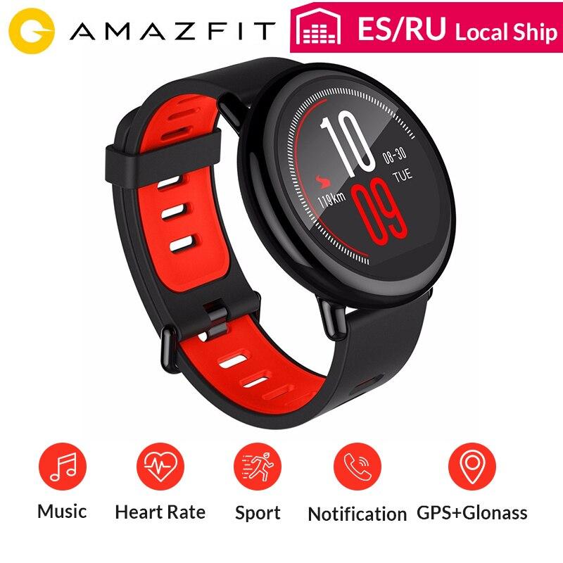 Original Amazônia Huami AMAZÔNIA Relógio Ritmo Bluetooth 4.0 Monitor de Freqüência Cardíaca Esportes Cinta Cerâmica Smartwatch Inteligente INGLÊS Espanhol