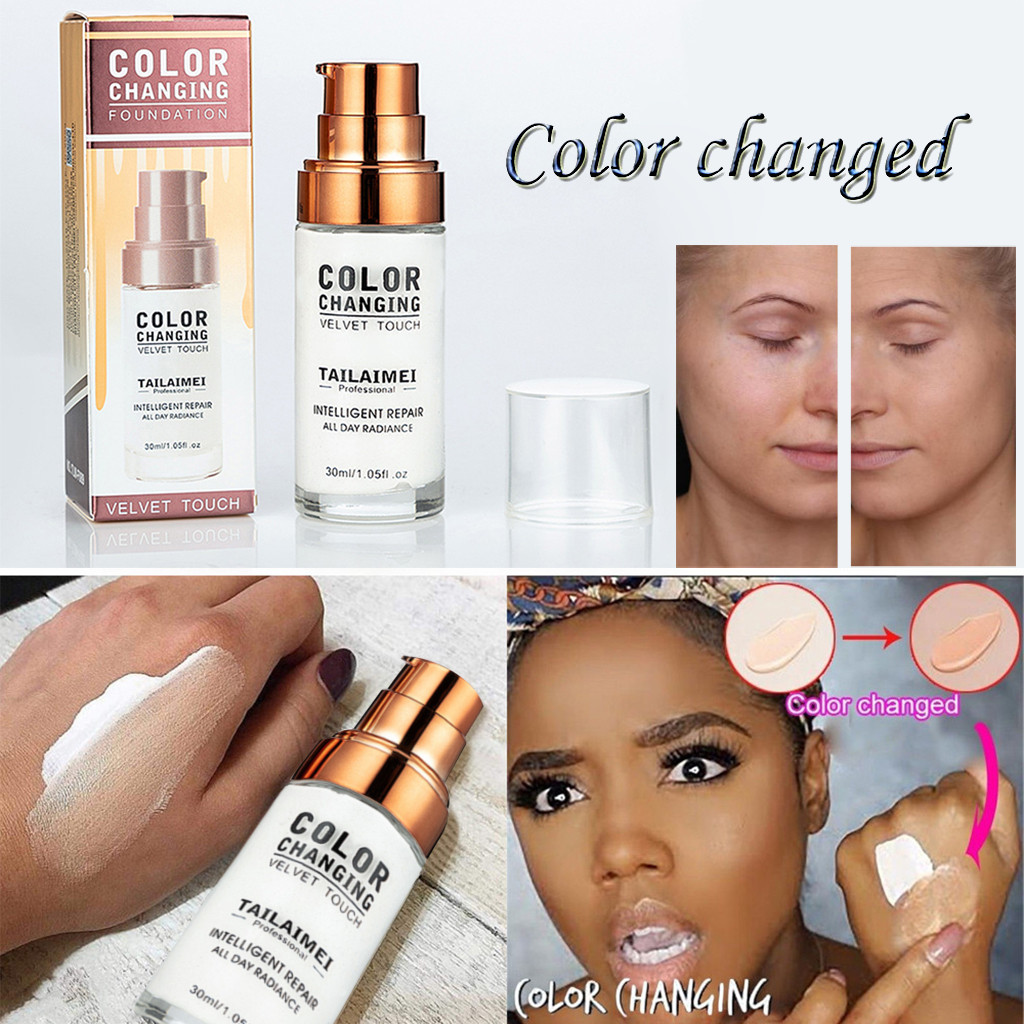 Hot TLM Color Changing Liquid Foundation Makeup Change To Your Skin Tone By Just Blending Skin Care Dropshipping image