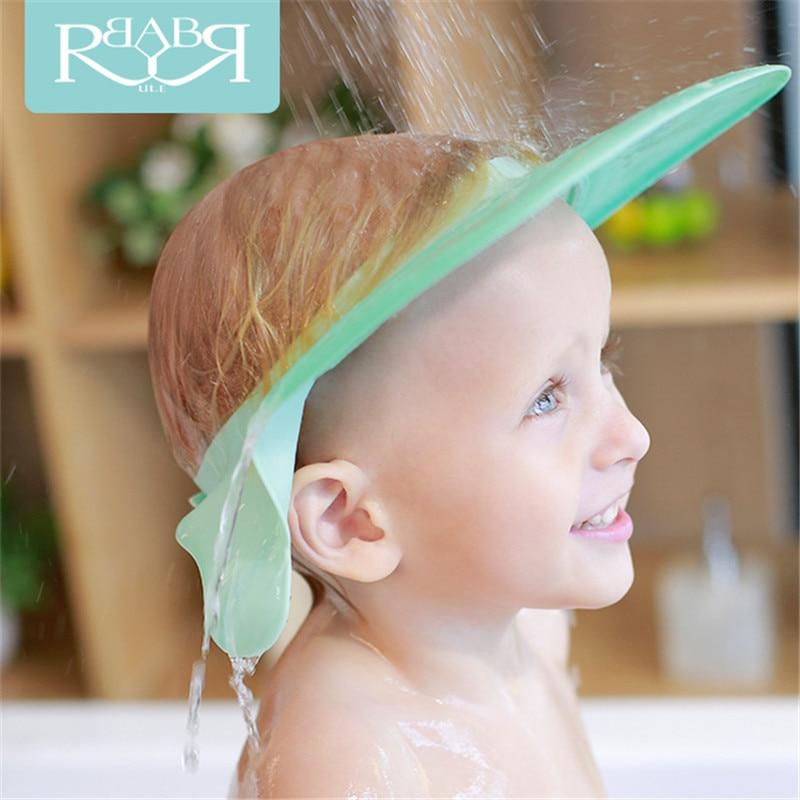 Babyruler Wash Hair Soft Baby Kids Children shower Dry Shampoo Cap Gehoorbescherming Adjustable Hat Bathing Visor Waterproof Cap