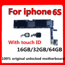 цены Full unlocked for iphone 6S 6 S Motherboard With/Without Touch ID,Original for iphone 6S Mainboard with Full Chips,16GB 32G 64G