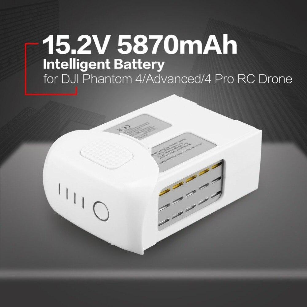 Intelligent 15.2 v 5870 mah De Rechange Vol LiPo Batterie Pièce De Rechange pour DJI Phantom 4/Avancé/4Pro FPV quadcopter RC Drone