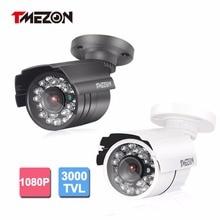 Tmezon AHD 3000TVL 2.0MP 1080P Camera Bullet Metal Home Security Surveillance CCTV Outdoor IR Night Vision 24Led Up to 20m/65ft