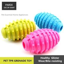 TPR eco-friendly pet toy Rubber Grenade shape bite molar relax pet toy molar toy bite resistance 1pc/lot