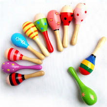 Baby Rattle Baby Toys Wooden Kids Child Sand Hammer Early Education Toy Musical Instrument Percussion Toy