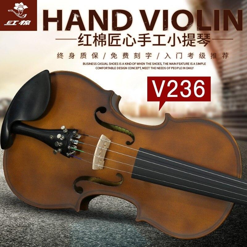 Fornito Di Cotone Rosso Violino V236 Grado Esame Violino Principianti Studenti Universitari Per Bambini Fatti A Mano Di Qualità Professionale Violino Adulto
