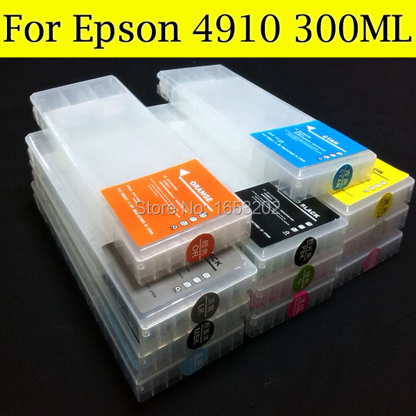 Permanent Chip For EPSON 4910 Ink Cartridge Compatible For EPSON 4910 4910XL Printer 100pcs lot printable pvc blank white card no chip for epson canon inkjet printer suitbale portrait member pos system
