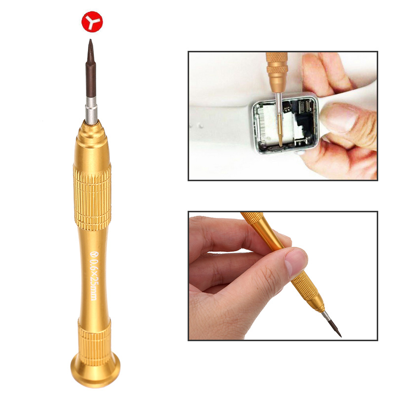 1PC Durable Y Tip 0.6mm Tri-Point Screwdriver Repair Tools For iPhone 7 7Plus Magnetic Tip(China)