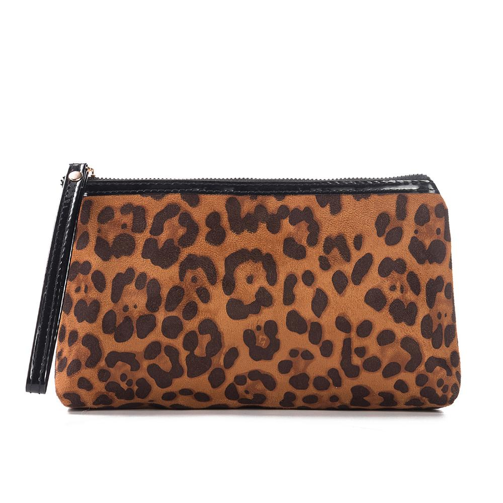 MIYAHOUSE Leopard Mini Cosmetics Pouches For Women Travel Ladies Makeup Bags With Contrast Color Pouch Cosmetic Bag