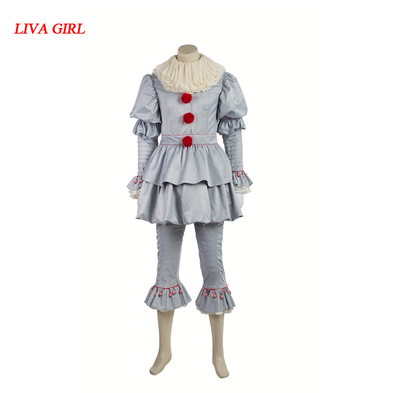 Stephen King's It Pennywise Cosplay Costume Clown Costume For Men Halloween Clothes With Boots Custom Made