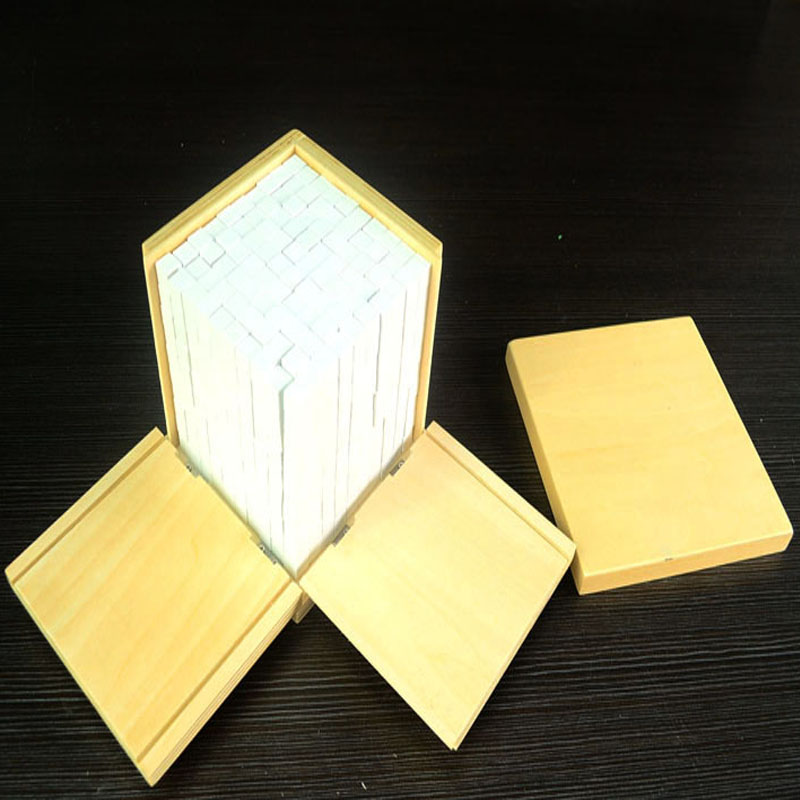 Montessori Education Cube  Beech Wood  Science toys Early educational toys Can Smarter Free Shipping montessori materials the pythagorean theorem blocks a pack calculate beech wood math tools early educational toys can smarter
