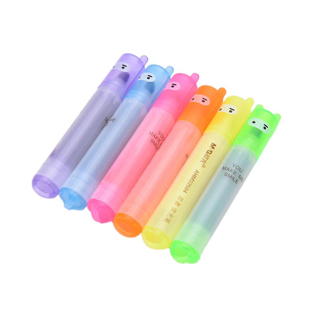 6 قطعة/الوحدة لطيف Kawaii مصغرة هيغليغتر الإبداعية جميل الكرتون النينجا أرنب هلام القلم للأطفال القرطاسية الكورية