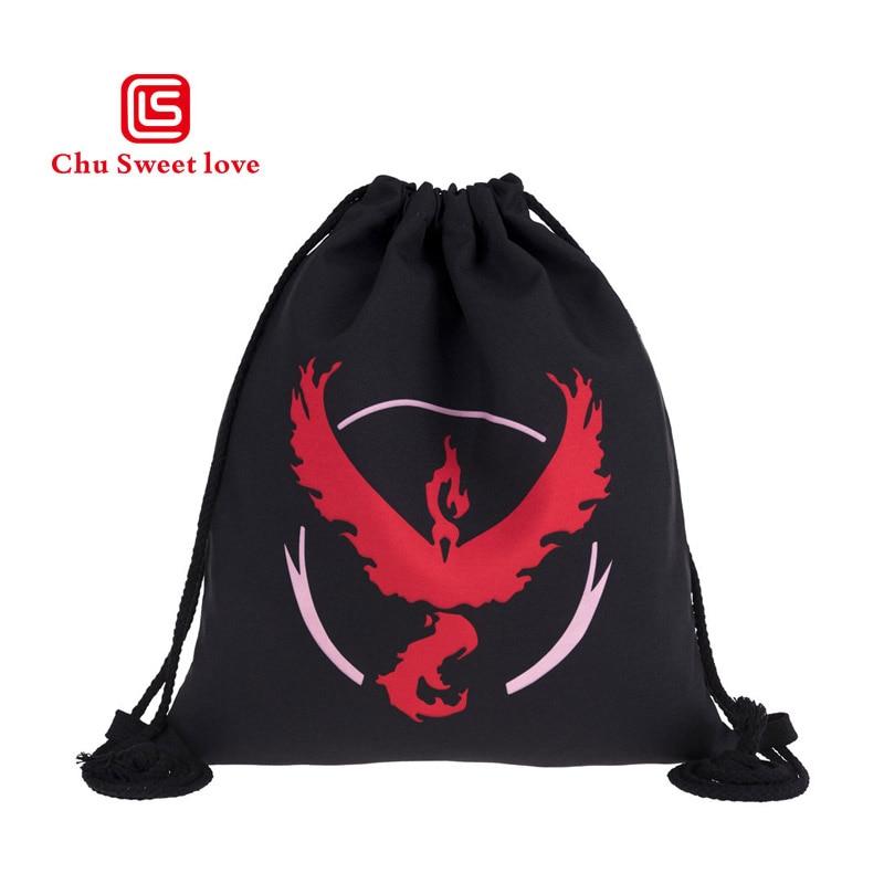 2018 Neue Schwarz Taschen Rot Elf Kordelzug Taschen Schwarz Mode Lässig Schule Leinwand Taschen Für Frauen Geschenke Kordelzug Rucksäcke Weich Und Rutschhemmend