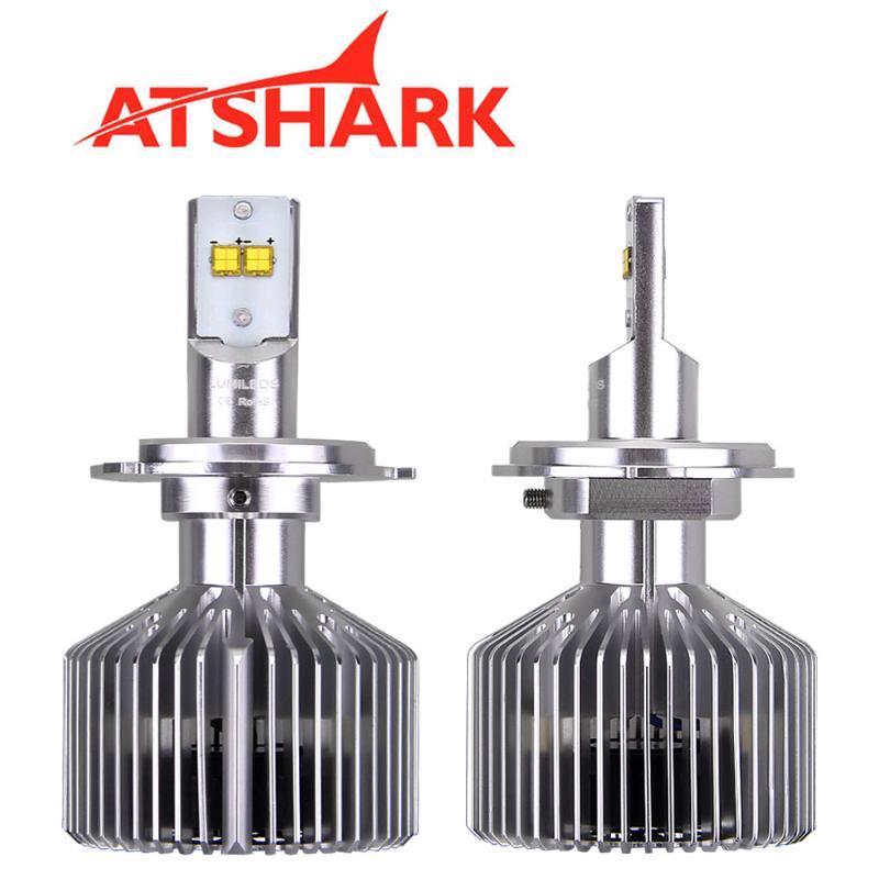 ФОТО Atshark Auto 9003 H4 LED Headlights Blub 35W 3500LM Headlight Lamps White 360 degree Hi/Low Dual Beam 6000K H4 Car Lights